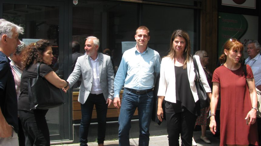 AN OFFICIAL FRENCH DELEGATION VISITED ZHENSKI PAZAR MARKET